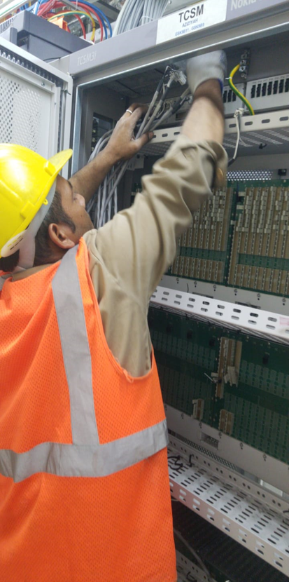 تحسين وتوسعة الشبكات الخارجيه( OSP) جزئية (tie cable )